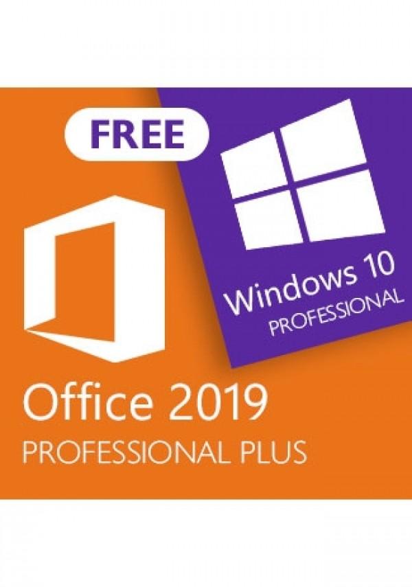 Microsoft Office 2019 Professional Plus (+Windows 10 Pro for free)